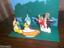 """THE BEATLES """"LEAD"""" HAND PAINTED FIGURES """" YELLOW SUBMARINE """" FIGURES AND SUB."""
