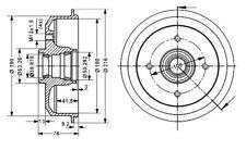 Ford Escort III-IV Tambour AR BENDIX 329710B