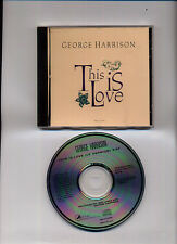 George Harrison This Is Love Promo Copy CD Pro-Cd 3068