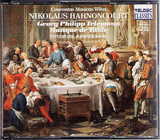 Nikolaus HARNONCOURT: TELEMANN Table Music Tafelmusik I II III 4CD TELDEC 1989