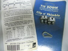 TIE DOWN 4KH30 NEW CLIP AND THIMBLE LOT OF 8  4KH30