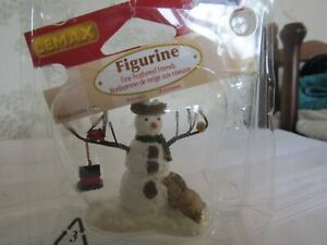 LEMAX Christmas figure Fine Feathered Friends (snowman & birds) used GC