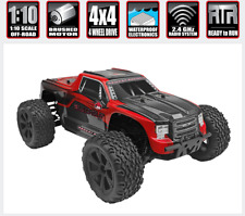 Redcat Blackout XTE 1/10 Scale Brushed Electric Remote Control RC Truck 4X4 Red
