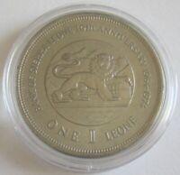 Sierra Leone 1 Leone 1974 10 Years National Bank BU