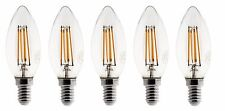 5X Ampoule Flamme  LED filament A+++ E14 3W 300lm 360° Blanc chaud Dimmable