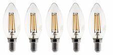 5X Ampoule Flamme  LED filament A+++ E14 3W 300lm 360° Blanc chaud