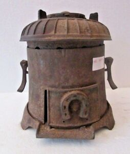 1900 FIRE PIT STOVE COAL BURNING  RARE UNCOMMON collection (1799)