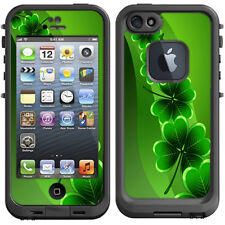 Skin Decal for Lifeproof iPhone 5 Fre Case / Shamrocks, glowing green