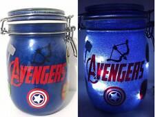 Personalised Marvel The Avengers Glitter Night Light Jar