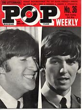 Pop Weekly Magazine 2 May 1964 The Beatles Connie Francis Mickey Finn & Blue Men