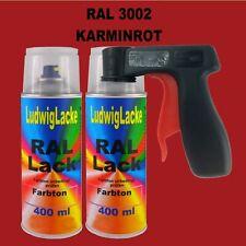 Karminrot RAL 3002 glänzend 2 x 400ml Spraydosen mit Haltegriff