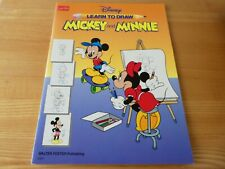 More details for disney learn to draw series mickey & minnie (pristine condition)