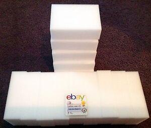 "100 Pack Extra Large 1-1/4"" Magic Sponge Eraser Melamine Foam Cleaning US Seller"