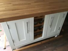 Kitchen Island Rustic hand made UNPAINTED- The Alby