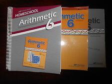 A Beka Book Arithmetic 6 Teacher keys homeschooling 6th grade lot of 3 Math