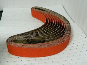 """VSM Ceramic Abrasive Belt 2"""" Wide x 48"""" OAL 36 Grit QTY 50 318269"""