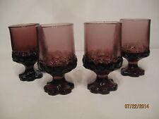 Set Of Four (4) Vintage Franciscan Tiffin Madeira Purple Wine Glasses