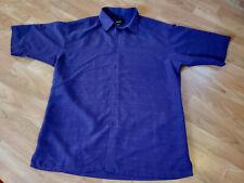 Sangi Modal Blend Short Sleeve Camp Shirt - Size 3XL - Purple Plaid Weave
