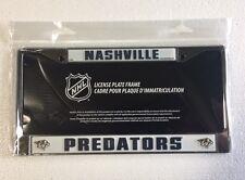 Nashville Predators Chrome/Metal Auto Tag License Plate Frame New NHL