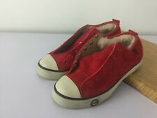 Sz 5 Ugg Australia Evera 78 Red Suede Leather Shoes Sneakers Womens