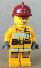 LEGO ® Minifigur Feuerwehrmann City Town Helm dunkelrot Set 4428 cty0338 cty338