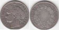 Monnaie Française 2 francs argent Cérès 1873 A