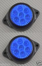 2x 7 LEDs 12V Side Marker BLUE Lights Car SUV Camper 4x4 Pickup Caravan Van
