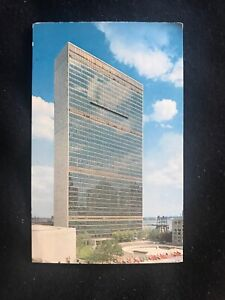UNITED NATIONS Building Headquarters From First Ave New York City Postcard NY