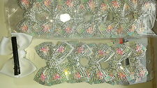 Joblot 12pcs White Bow Design Sparkly hairclips hairgrips NEW wholesale lot 22