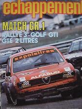 revue ECHAPPEMENT 1978 GR.1 GOLF GTI + SIMCA 1000 RALLYE 3 + OPEL KADETT GTE