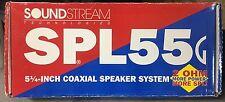 "NEW Old School Soundstream SPL-55G 5.25"" 2-way Coaxial Speakers,Rare,NOS,NIB"