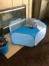 Portable Guinea Pig Cage Tent Small Animal Waterproof Playpen Yard Blue Hamster