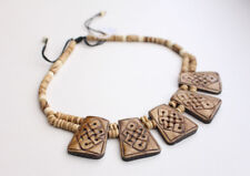 Endless Knot Carved Yak Bone Necklace
