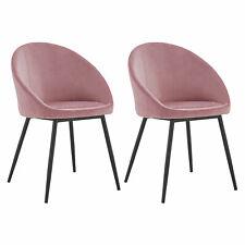 Lot de 2 chaises vintage DIANE velours rose