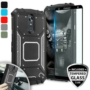 LG Stylo 5 / 4 / Plus / 5v Case And Screen Cover Magnetic Support Metal Plate