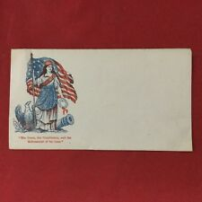 Civil War USA Patriotic Cover Envelope The Union The Constitution Vintage RARE