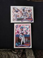 DARRYL STRAWBERRY 1989  Topps #300  Topps #291- NEW YORK METS. Two card Lot.