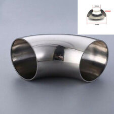 2.5''/ 63mm (OD)  Stainless Steel 201 Exhaust Weld Elbow Pipe Fitting 90 Degree