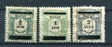 1910 MACAU MACAO CHINA PORTEADO STAMP COMPLETE SET WITH INVERTED SURCHARGE USED