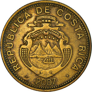 [#383176] Coin, Costa Rica, 100 Colones, 2007, VF, Brass plated steel, KM:240a