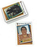 2016 Topps WWE Heritage Turn Back The Clock Set 15 Cards Undertaker HBK Macho