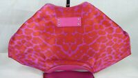 Alexander McQueen De Manta Clutch Bag Pink Silk Satin  Leather Animal Print