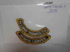 NORTHERN FLORIDA COUNCIL 1973 CAMP STANDS HONOR CAMPER SEWN F1347
