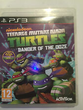 PLAYSTATION 3 PS3 Jeu Teenage Mutant Ninja Turtles Danger de la boue Disque Très bon état!