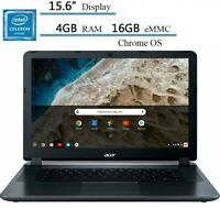 "🔥NEW Acer 15.6"" HD Chromebook Intel Celeron/4G/16GB eMMC/Webcam CB3-532-C8DF🔥"