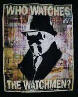 MEDIUM Who Watches The Watchmen T-shirt: Rorschach DC Comics Punk Rock Retro
