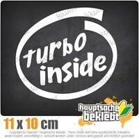 Turbo inside 11 x 10 cm JDM Decal Sticker Aufkleber Racing Die Cut