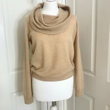 M&S Collection Cream 100% Cashmere Jumper Size 10 Oatmeal Cowl Neck