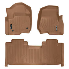 SmartLiner Custom Floor Mat for Ford F250 F350 SuperCab Front Bucket Seat Tan