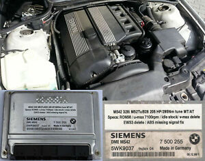 BMW M52TuB28 MS42 remap service 205Hp - EWS delete - swap modifications